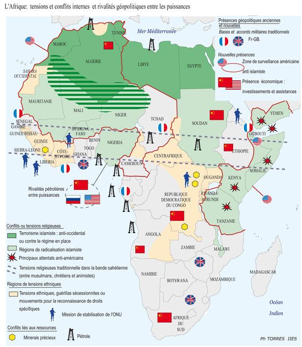 Carte Afrique Pma.L Afrique Entre Enjeux De Developpement Et Mondialisation
