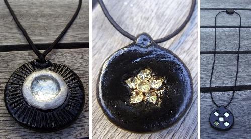 Colliers - couleur noire et Argent