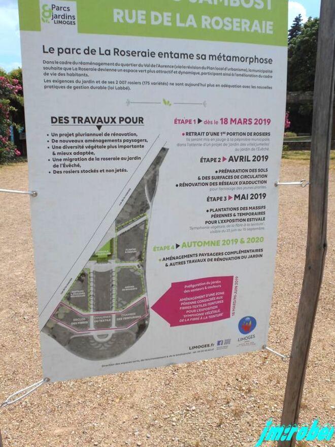 Un déconfinement total , le parc de la roseraie de Limoges