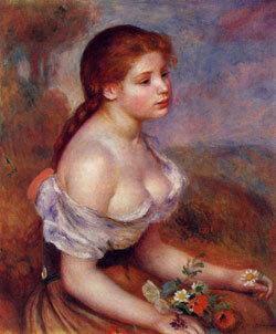 Auguste Renoir : Jeune fille aux paquerettes