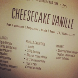 Un p'tit cheesecake de New York.