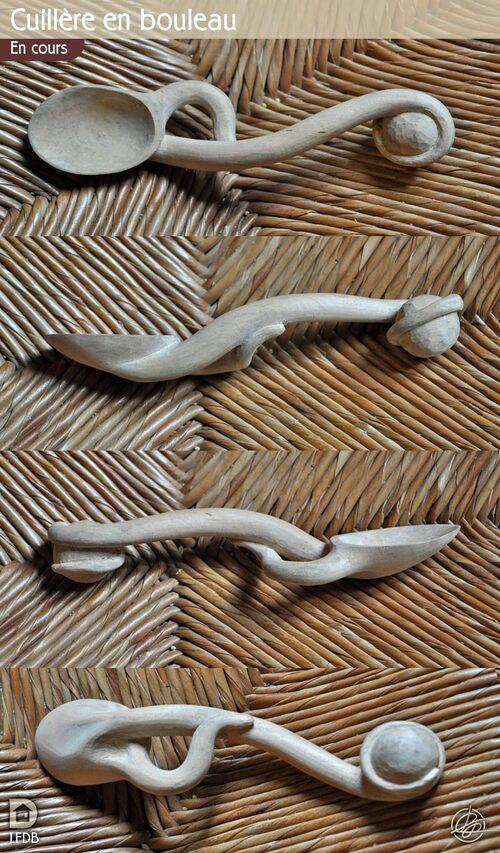 Cuillères bois bouleau