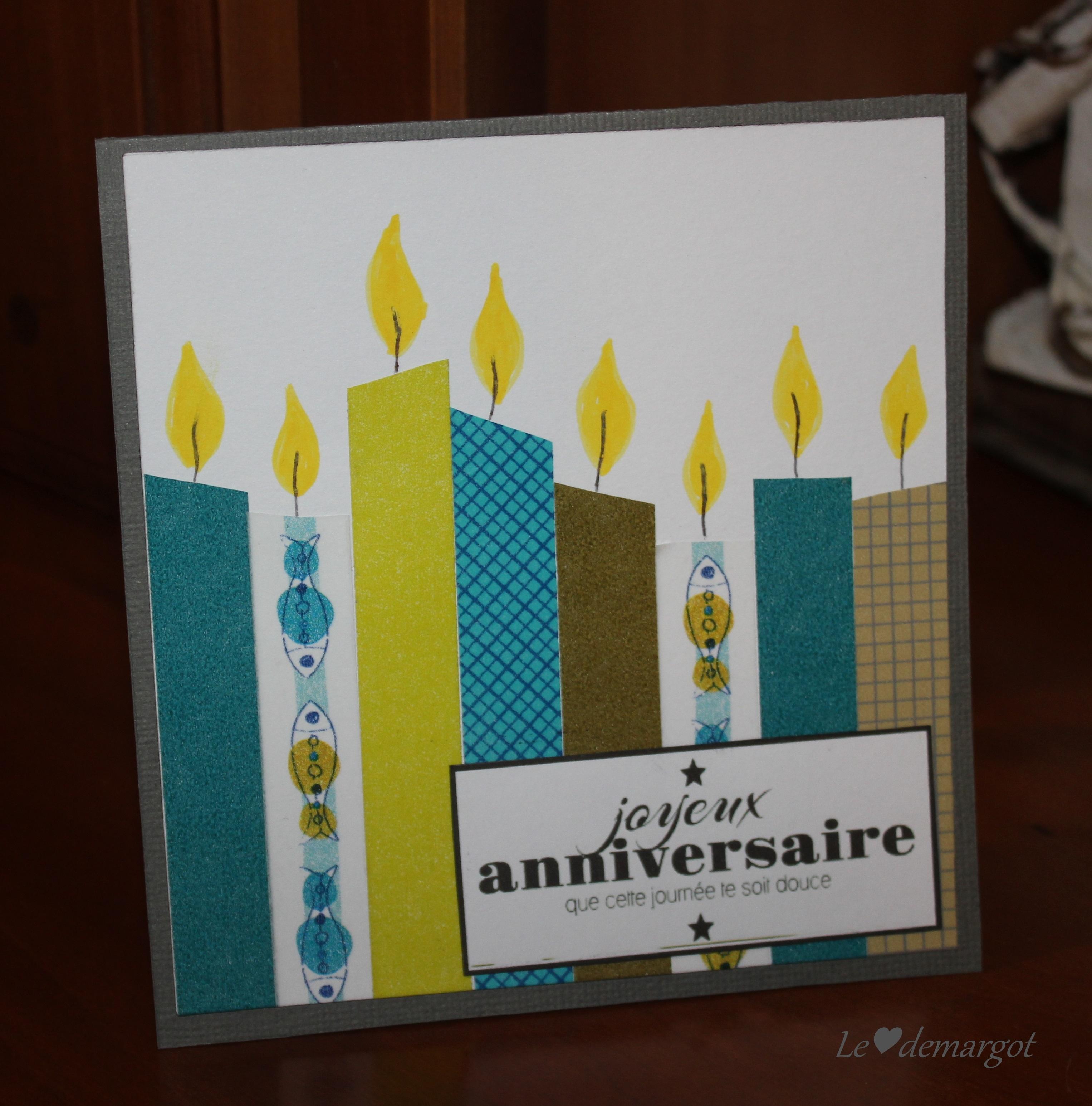 Scrapbooking Carte Anniversaire.Scrap Carte Anniversaire Le Coeur De Margot