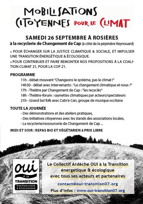 Changeons le système, pas le climat - 26 septembre à Rosières