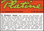 Articles de presse Esther Galil