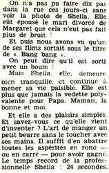 Mai 1967 : Sheila petite beurrette.