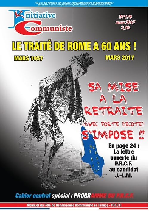 « INITIATIVE COMMUNISTE » n°178 de Mars 2017 est paru