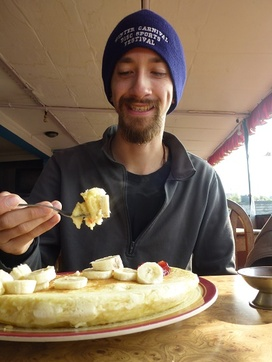 Bhaktapur, le maxi pancake de David