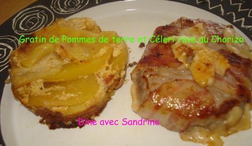 Des Gratins de Pommes de Terre et Céleri Rave au Chorizo