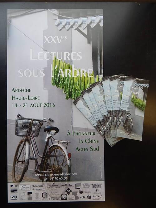 Les XXVèmes Lectures sous l'arbre, du 14 au 21 août 2016