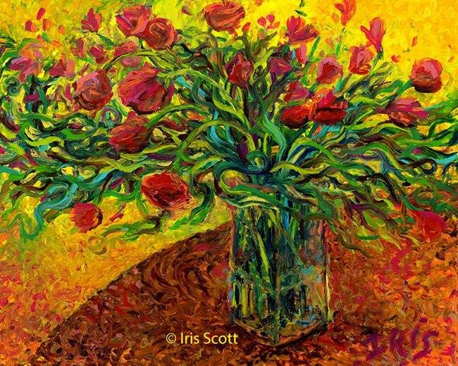 Iris Scott la peinture aux bouts des doigts