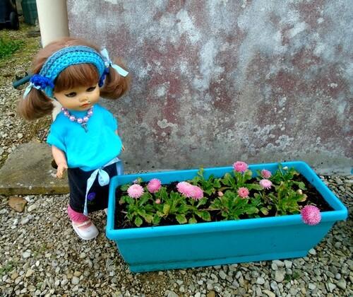 Rosalie au jardin