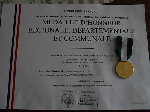 médaille mumu ,,,30 ans 2