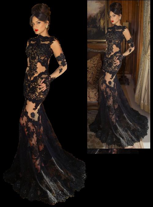femme robe noire