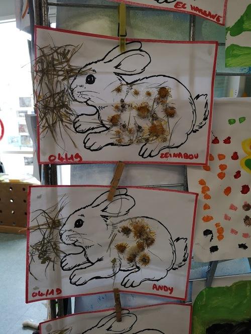 les lapins fleuris