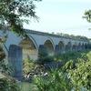Le pont de Bonpas sur la Durance vers Avignon