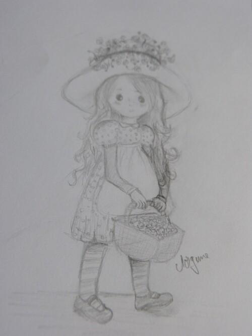 Fillette au chapeau fleuri