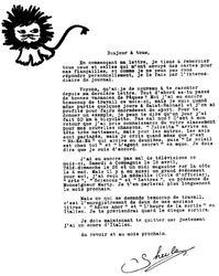 26 avril 1970 : Officier des Arts, Sciences et Lettres NOUVEAUTES