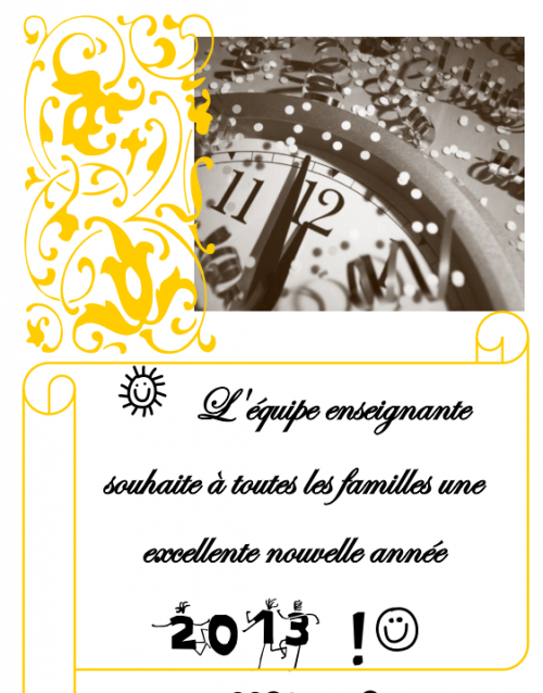 direction : affichage voeu nouvel an