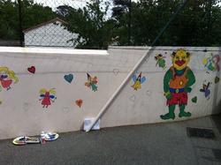 Une fresque à l'école