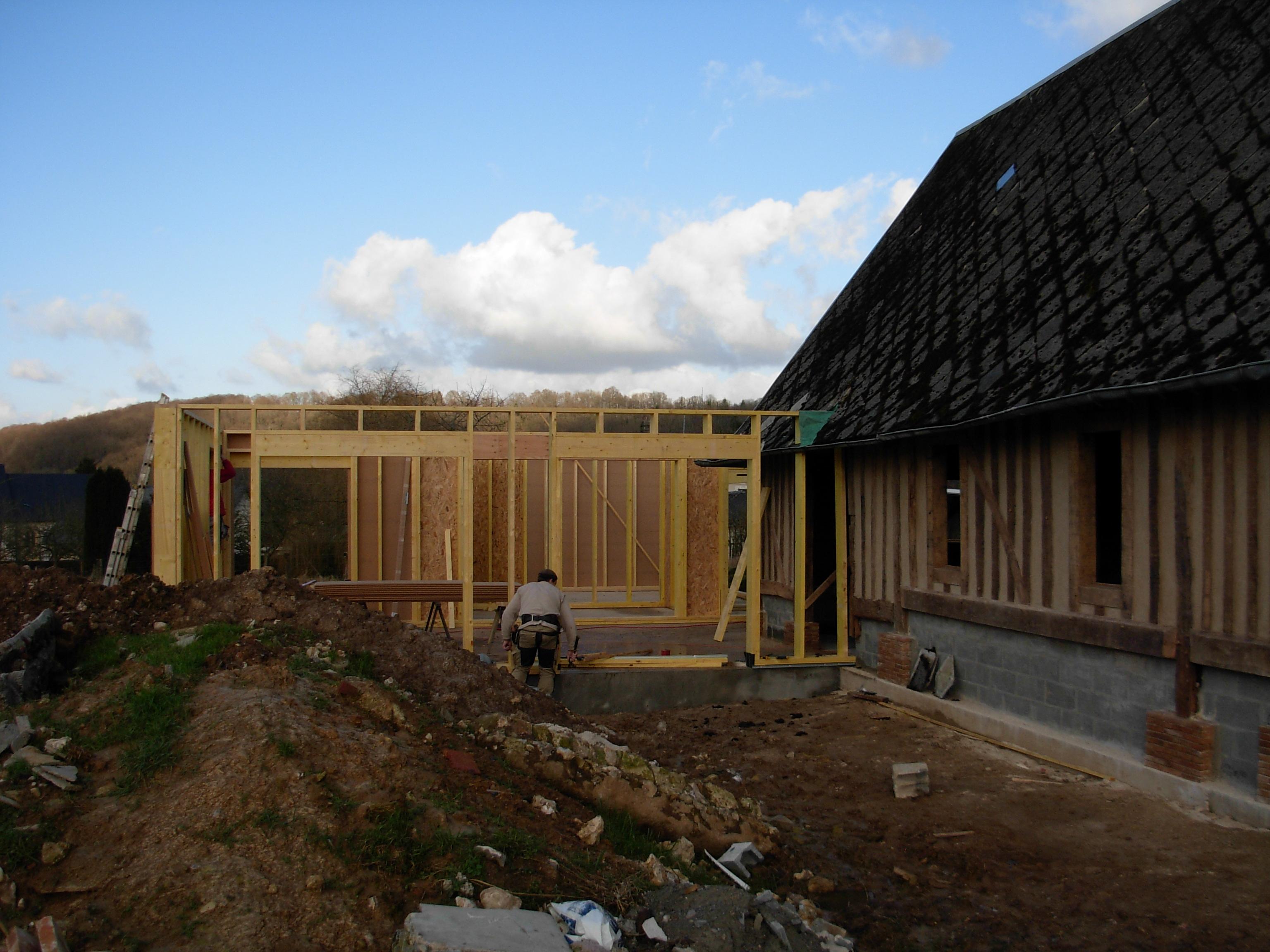 Extension maison normande maison evreux normandie bac for Maison ossature bois normandie