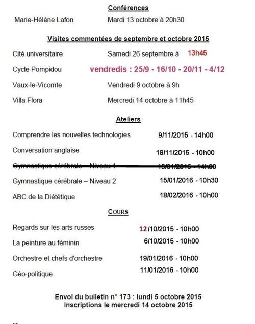 BULLETIN 172 - RENTREE 2015-2016