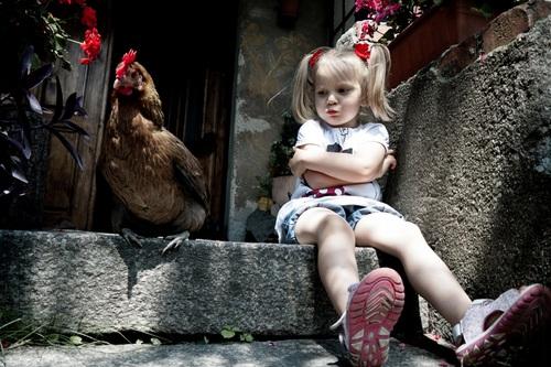 Les poules et les enfants