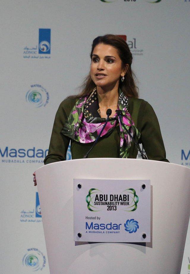 Rania à Abu Dhabi