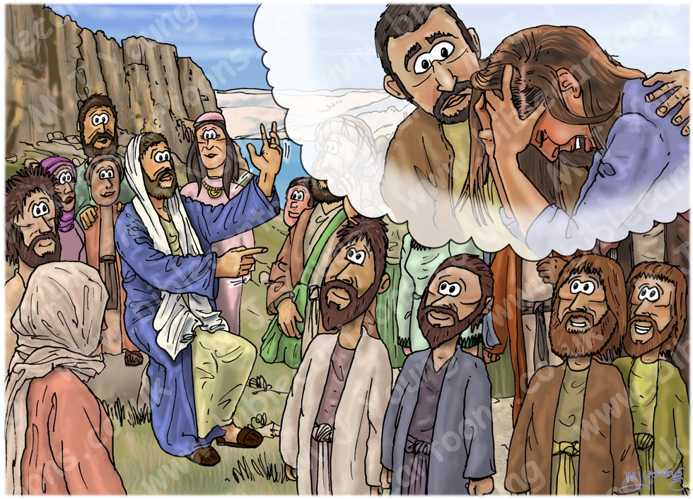 Matthew 05 - The Beatitudes - Scene 02 - Blessed are the poor in spirit 980x706px col.jpg