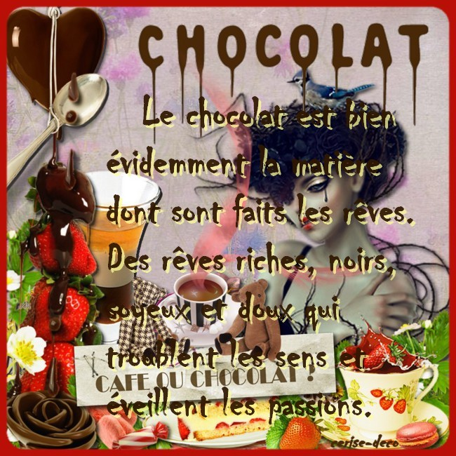 citation illustrée chocolat