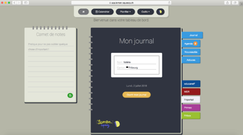 Journal de classe Lemon Squeezy