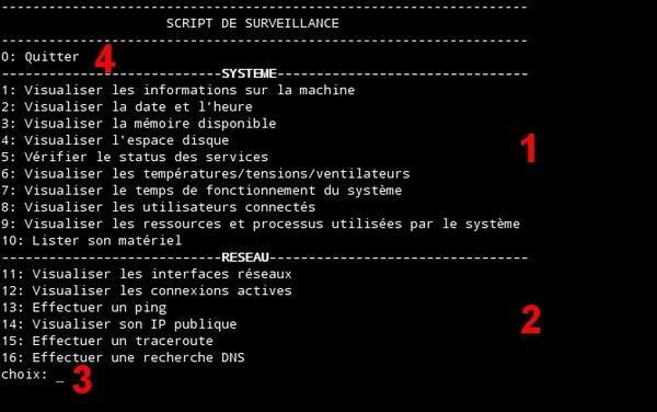 Script de surveillance système