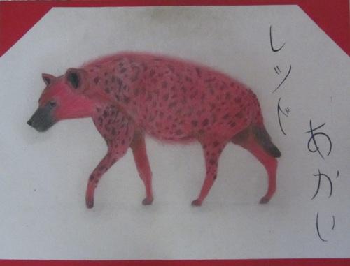 la voila la fameuse hyène rouge!