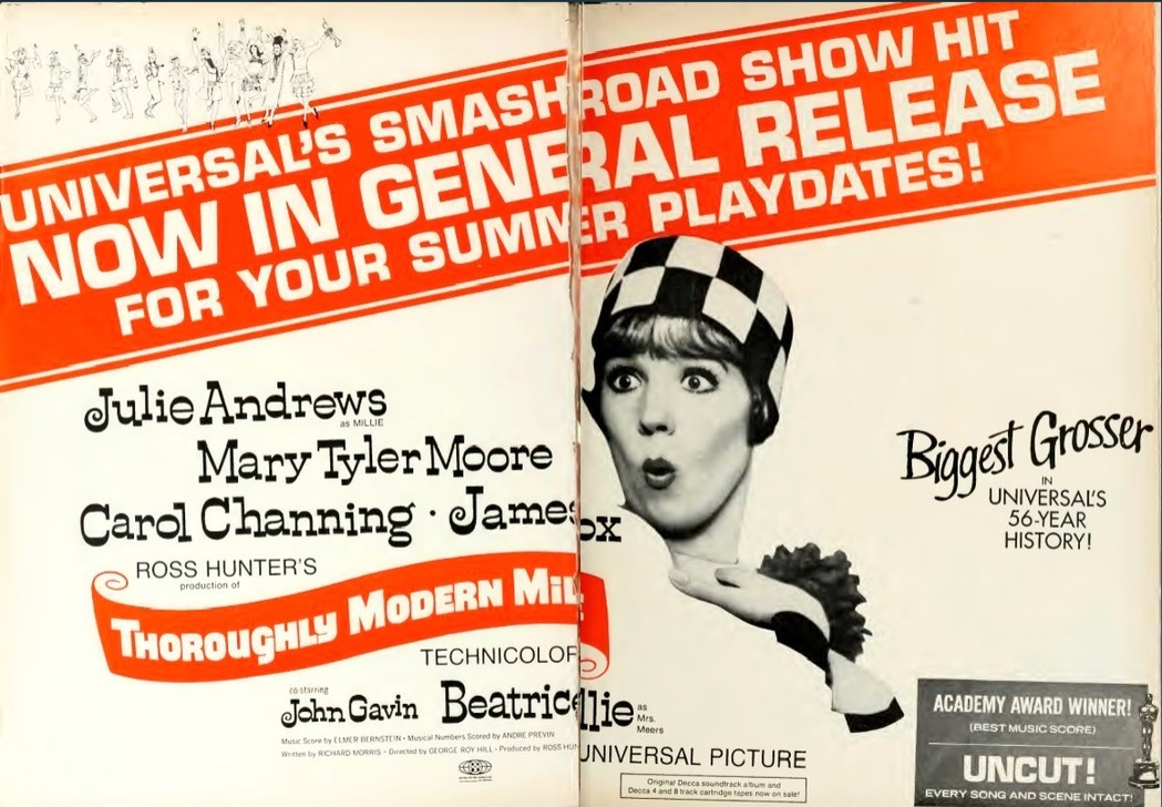 thoroughly modern millie BOX OFFICE USA 1968