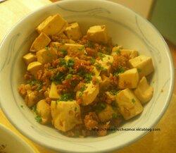 Tofu de base, pimenté ou non 豆腐