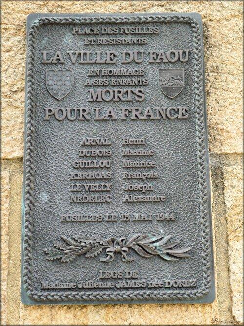 Le monument aux morts du village du Faou