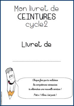 Ceintures Cycle 2 Français Programmes de 2016