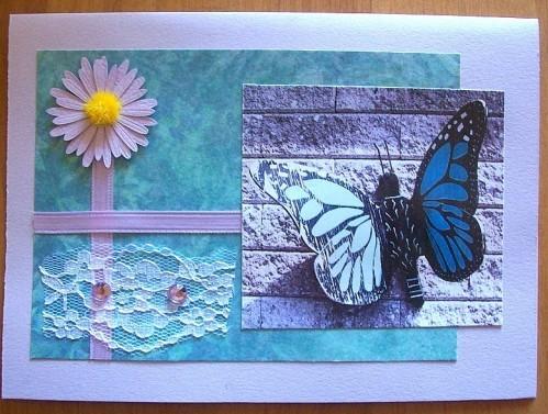 Carte fleur et papillon 4 - 2012