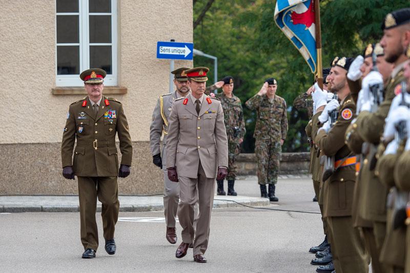 Inauguration d'une plaque commémorative au Centre Militaire