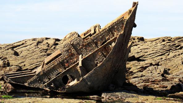 Le Sanaga - Le naufrage - L'épave