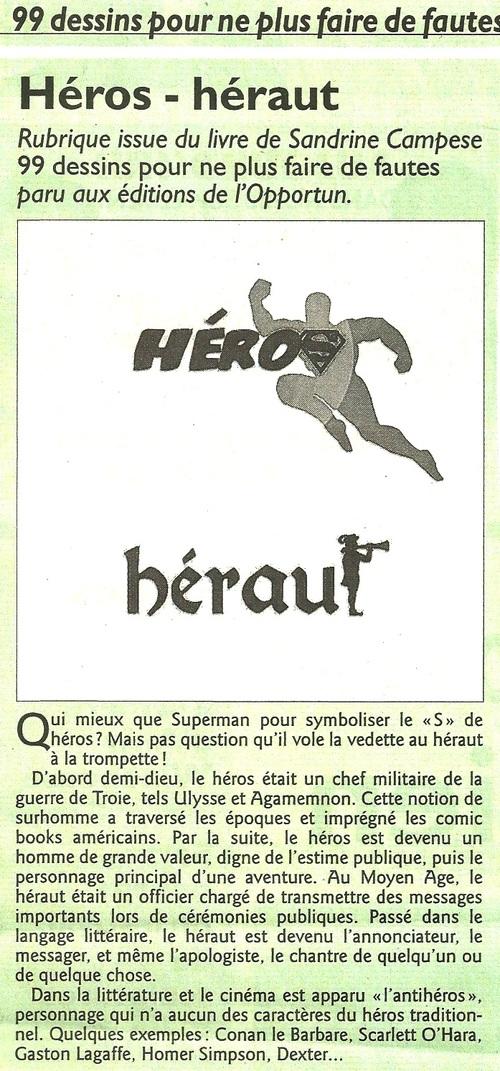 Héros - héraut...