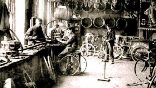 En 1900, des bicyclettes étaient fabriquées à Calais