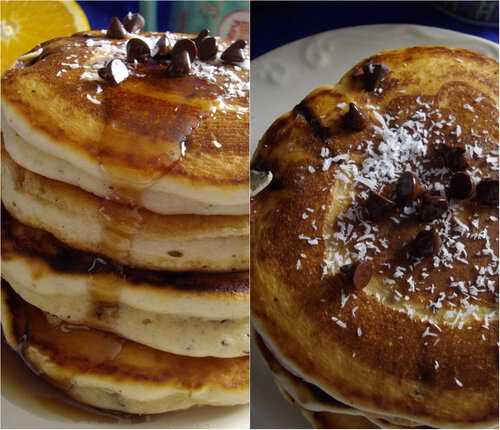 Coconut Chocolate Chip Pancake