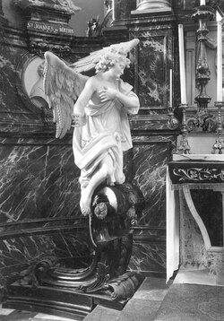 ange adorateur, angels, church, Eglise Saint-Nicolas , Mons,Ghienne, Alexandre,sculté marbré, statue religieuse,sculpteur ;bois, r