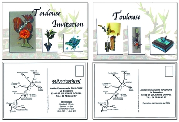 Cartes d'invitation pour vernissage