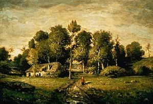 Theodore-Rousseau-xx-Cottage-in-a-Clump-of-Trees