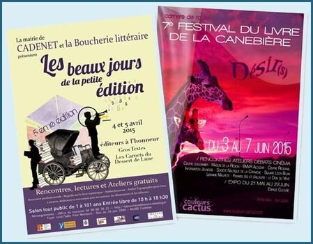 ★ Mes Salons du Livre & Festivals [2015]