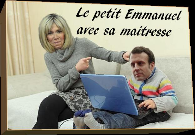 Le petit Emmanuel avec sa maitresse (Humour)