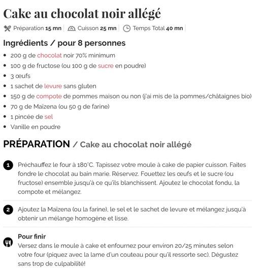 Gateau chocolat noir