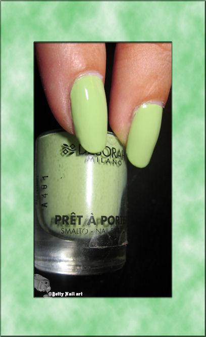 Swatch vert pistache deborah